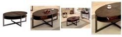 Furniture of America Prontus Oval Coffee Table