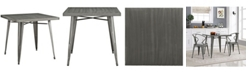 Modway Alacrity Square Metal Dining Table