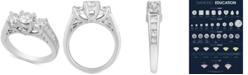 Macy's Diamond Three Stone Engagement Ring (2 ct. t.w.) in 14k White Gold