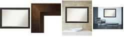 Amanti Art Rustic Pine row 21x27 Wall Mirror