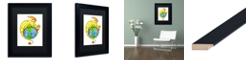 "Trademark Global Jennifer Nilsson Dreaming of Peace - Dragon Matted Framed Art - 11"" x 14"" x 0.5"""