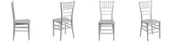 Flash Furniture Hercules Premium Series Silver Resin Stacking Chiavari Chair