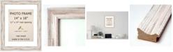 "Amanti Art Alexandria Whitewash 14"" X 18"" Matted 11"" X 14"" Opening Wall Photo Frame"