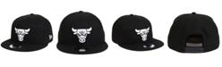 New Era Chicago Bulls Black White 9FIFTY Snapback Cap