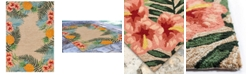 "Liora Manne' Ravella 2280 Tropical Neutral 7'6"" x 9'6"" Indoor/Outdoor Area Rug"