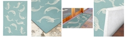 Liora Manne' Capri 1674 Mermaids Blue 2' x 5' Indoor/Outdoor Area Rug