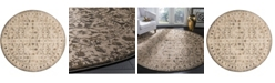 "Safavieh Brilliance Cream and Bronze 6'7"" x 6'7"" Round Area Rug"