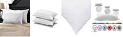 Ella Jayne Soft Allergy, Dust Mite and Bed Bug Free Stomach Sleeper Pillow with MicronOne Technology Set of Two - Queen