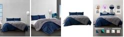 Ella Jayne Reversible Brushed Microfiber Plush Down-Alternative Comforter 3 Piece Set - Twin