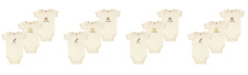 Touched by Nature Organic Cotton Bodysuits, 3-Pack, 0-12 Months
