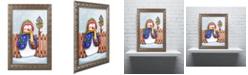"Trademark Global Jennifer Nilsson Winter Friends Ornate Framed Art - 16"" x 20"" x 0.5"""