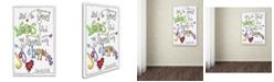 "Trademark Global Jennifer Nilsson Words of Joy - Joyful Words Canvas Art - 14"" x 19"" x 2"""