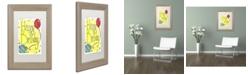 "Trademark Global Jennifer Nilsson Happy Birthday Matted Framed Art - 14"" x 19"" x 2"""