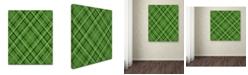 "Trademark Global Jennifer Nilsson Green Diamond Plaid 1 Canvas Art - 11"" x 11"" x 0.5"""