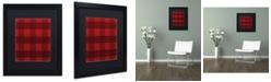 "Trademark Global Jennifer Nilsson Red Buffalo 1 Matted Framed Art - 14"" x 14"" x 2"""