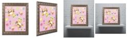 """Trademark Global Jennifer Nilsson Bunny Eggs Chicks Ornate Framed Art - 11"""" x 11"""" x 0.5"""""""