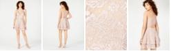 Emerald Sundae Juniors' Glitter Lace Racerback Dress
