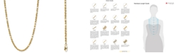 """Italian Gold Rope 22"""" Chain Necklace in 14k Gold"""