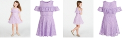 Epic Threads Little Girls Floral Lace Dress, Created for Macy's