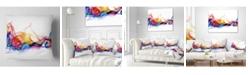 """Design Art Designart 'Abstract Smoke' Contemporary Throw Pillow - 16"""" x 16"""""""