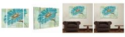 "Trademark Innovations Chris Paschke 'Spa Daisies Ii' Multi Panel Art Set Large 3 Piece - 44"" x 44"" x 2"""