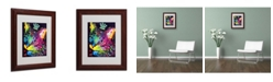 "Trademark Global Dean Russo 'Thinking Cat Crowned' Matted Framed Art - 11"" x 14"" x 0.5"""