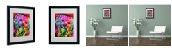 "Trademark Global Dean Russo 'Yorkie' Matted Framed Art - 20"" x 16"" x 0.5"""