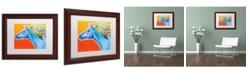 """Trademark Global DawgArt 'Horse Like The Wind' Matted Framed Art - 11"""" x 14"""" x 0.5"""""""