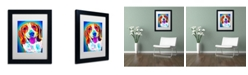 """Trademark Global DawgArt 'Lucy' Matted Framed Art - 14"""" x 11"""" x 0.5"""""""