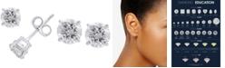 EFFY Collection EFFY® Diamond Stud Earrings (1 ct. t.w.) in 14k White Gold