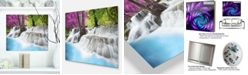 "Design Art Designart 'Erawan Waterfall' Photography Metal Wall Art - 20"" X 12"""