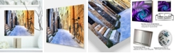 "Design Art Designart 'Pictorial Street Of Old Italy' Cityscape Metal Wall Art - 20"" X 12"""