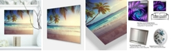 "Design Art Designart 'Typical Sunset On Seychelles Beach' Extra Large Seascape Metal Wall Decor - 20"" X 12"""