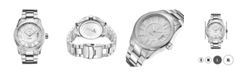 Jbw Men's Bond Diamond (1/10 ct.t.w.) Stainless Steel Watch
