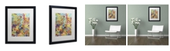 """Trademark Global Sylvie Demers 'Cellulaires' Matted Framed Art - 16"""" x 20"""" x 0.5"""""""