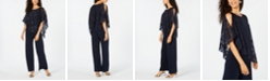 Connected Petite Asymmetrical Overlay Jumpsuit