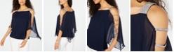 MSK Embellished Cold-Shoulder Top