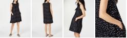 Eileen Fisher Sleeveless Printed Organic Cotton Shift Dress, Regular & Petite