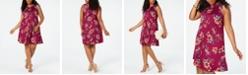 BCX Trendy Plus Size Floral A-Line Dress