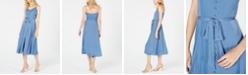 Vince Camuto Rumple Button-Front Dress