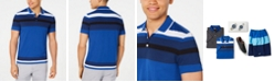 Alfani Men's Engineered Stripe Polo, Created for Macy's