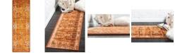 Bridgeport Home Linport Lin1 Terracotta/Ivory 2' x 6' Runner Area Rug