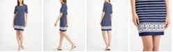 Charter Club Petite Striped Shift Dress, Created for Macy's