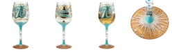 Enesco Lolita 70th Birthday Wine Glass