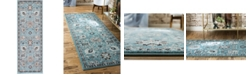 "Bridgeport Home Wisdom Wis1 Light Blue 2' 2"" x 6' Runner Area Rug"