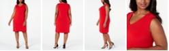 JM Collection Plus Size Grommet-Shoulder Sheath Dress, Created For Macy's
