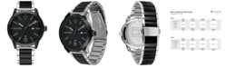 Tommy Hilfiger Men's Two-Tone Stainless Steel Bracelet Watch 42mm, Created for Macy's