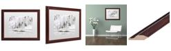 """Trademark Global Jason Shaffer 'Mill Hollow Ice' Matted Framed Art - 20"""" x 16"""""""
