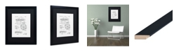 """Trademark Global Claire Doherty 'Basketball Hoop Patent 1965 White' Matted Framed Art - 16"""" x 20"""""""