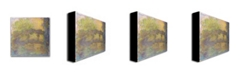 "Trademark Global Claude Monet 'The Japanese Bridge 1918-24' Canvas Art - 14"" x 14"""
